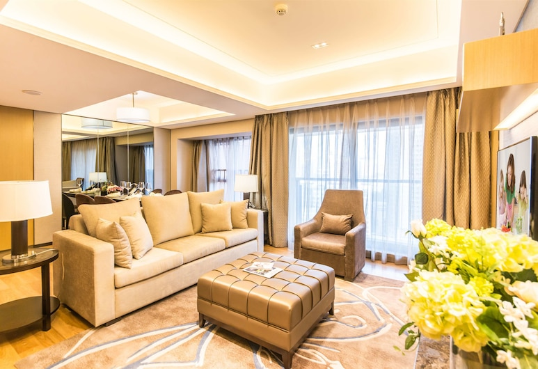 Somerset Grandview Shenzhen, Shenzhen, Premier Apartment, 2 Bedrooms, Living Area