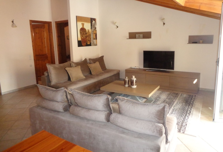 Villa Maria, Parga, Apartmán typu Premium, Obývačka