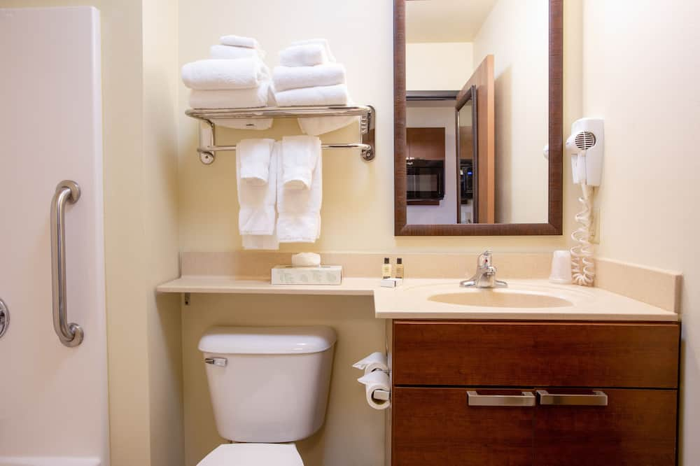 Huone, 1 keskisuuri parisänky (Hearing Impaired) - Kylpyhuone