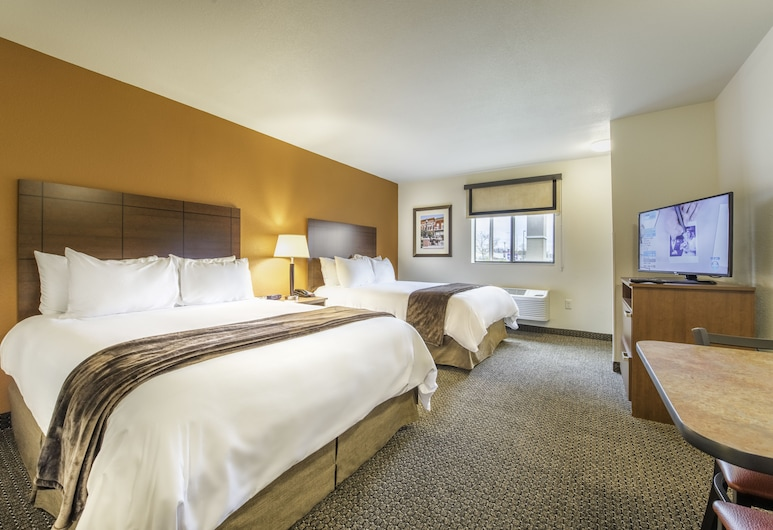 My Place Hotel-Fargo, ND, Fargo, Quarto, 2 camas queen-size (Hearing Impaired with Recliner), Quarto