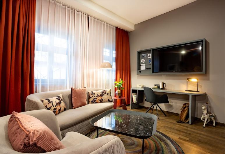馬戲團酒店, 柏林, Deluxe Junior Suite, 客廳