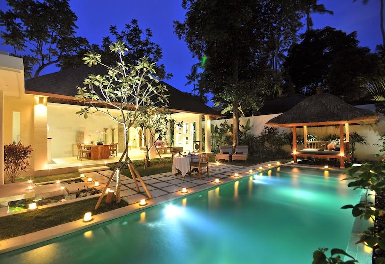 Villa Bali Asri Batubelig, Seminyak, Vila real, 1 quarto, Piscina particular, Vista do quarto