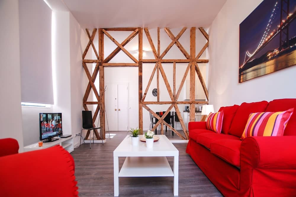 高級公寓, 3 間臥室 (3 Twin Rooms, 1 Sofa Bed) - 客廳