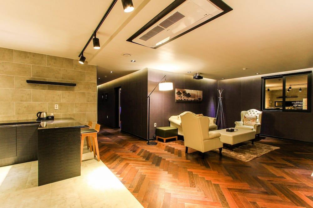 פנטהאוז, 2 חדרי שינה, מטבח (with Living Room, Terrace, Karaoke) - אזור מגורים