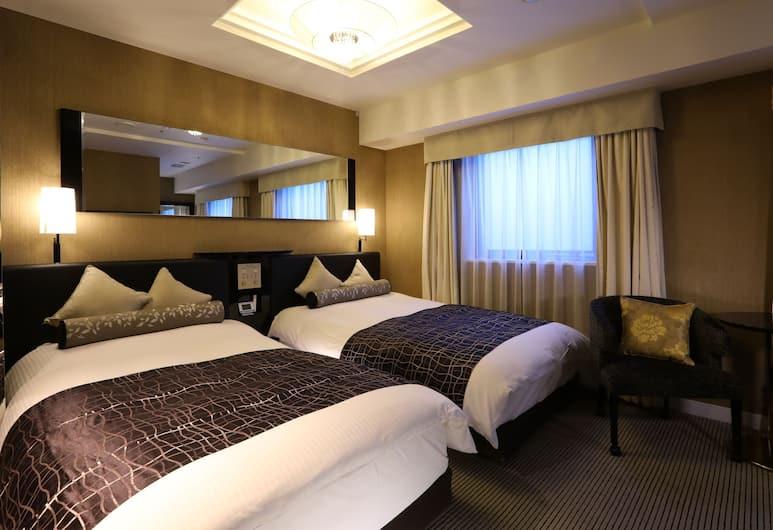 APA Hotel Kanda-Jimbocho-Ekihigashi, Tokio, Pokój z 2 pojedynczymi łóżkami typu Deluxe, dla niepalących, Pokój