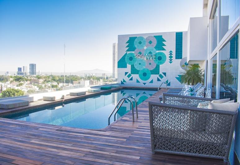 Square Small Luxury Hotel, Guadalajara, Hồ bơi tại sân thượng
