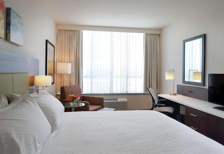 Hilton Garden Inn Pittsburgh Downtown, Pitsbergas, Žemesnės liukso klasės numeris, 1 labai didelė dvigulė lova, su patogumais neįgaliesiems (Hearing), Svečių kambarys