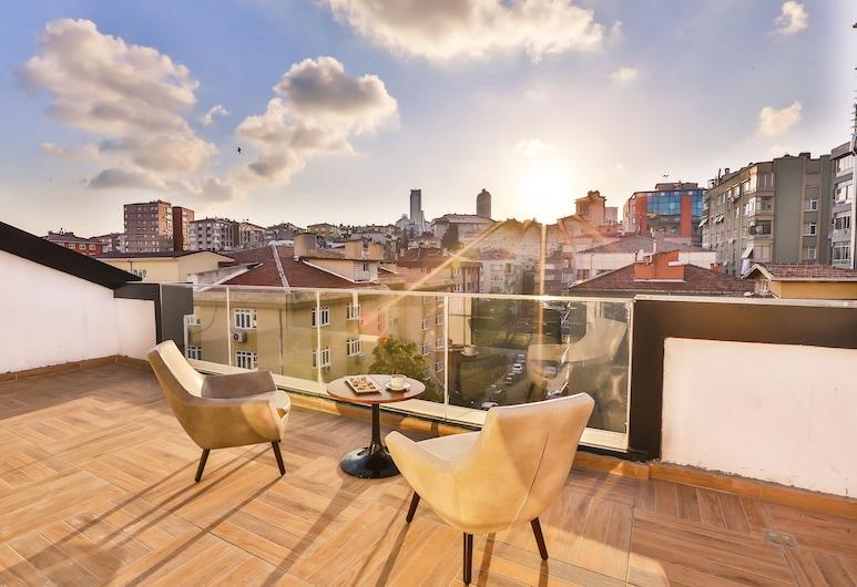 Business Life Hotel, Istanbul, Executive-værelse - balkon, Terrasse/patio