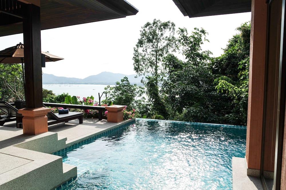 Grand Villa with Ocean View - Özel havuz