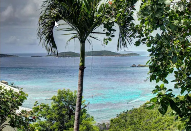 Estate Lindholm, St. John, Soba, balkon, pogled na luku (Cinnamon), Pogled na plažu/ocean