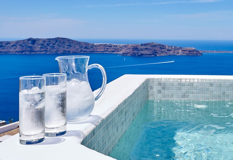 Kasimatis Suites, Santorini, Junior Suite, Hot Tub (Caldera View), Jetted Tub
