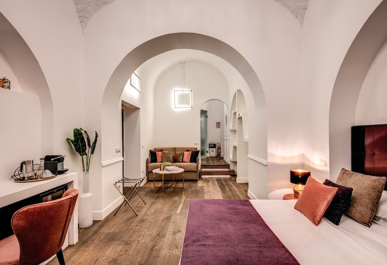Boutique Centrale Relais, Rome, Junior Suite, 1 Double Bed with Sofa bed, Living Room