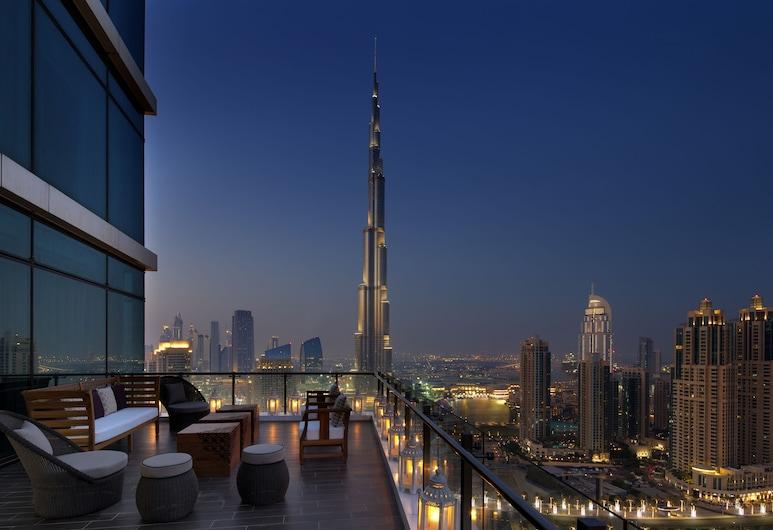 Taj Dubai, Dubai, Signature Suite, 1 King Bed (Maharaja, Burj View), Balcony