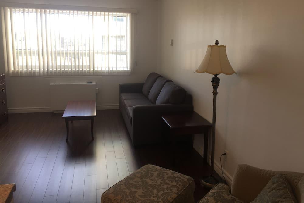 Pamatklases vienvietīgs numurs, viena guļamistaba - Dzīvojamā istaba
