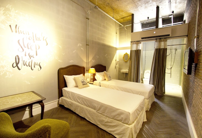 Oneday Hostel Sukhumvit 26, Bangkok, Twin Private Room with Bathroom, Guest Room