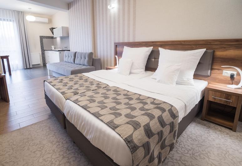 アパートホテル ミオドワ, クラクフ, コンフォート スタジオ 1 ベッドルーム, 部屋