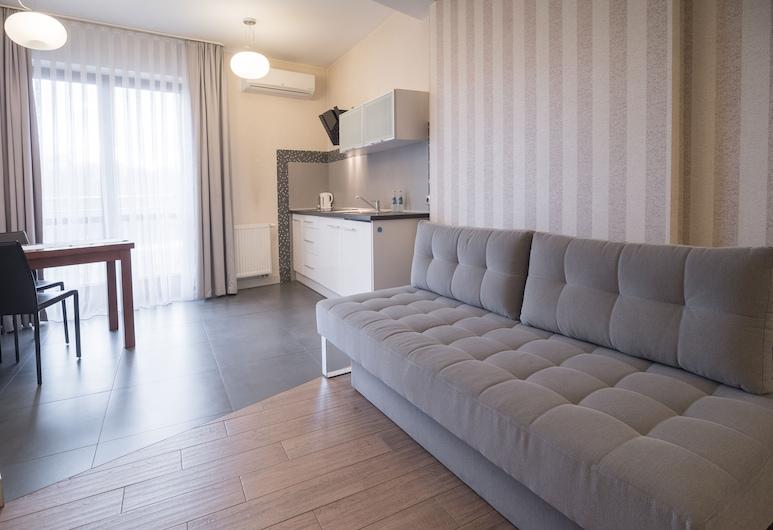 Aparthotel Miodowa, Cracovia, Zona con asientos del vestíbulo