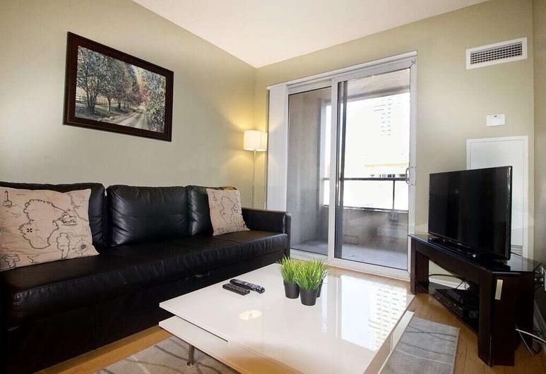 Living Suites Toronto Convention Centre, Toronto, Appartement, 1 slaapkamer, Woonruimte