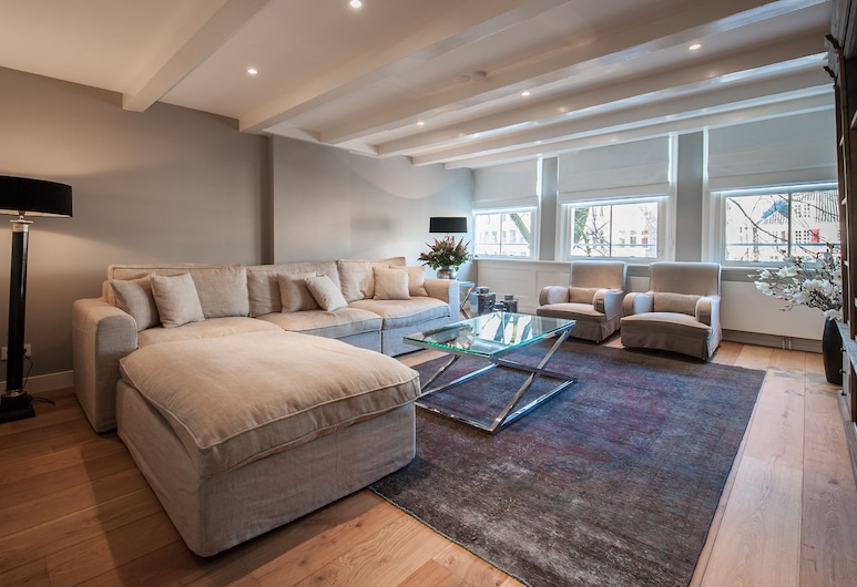 Short Stay Group The Grand Singel Luxury Serviced Apartments, Amsterdam, Apartment, 4 Schlafzimmer, Wohnbereich