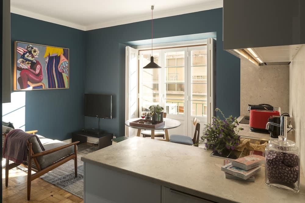 Appartement, 2 slaapkamers, kitchenette (Convent View) - Woonruimte