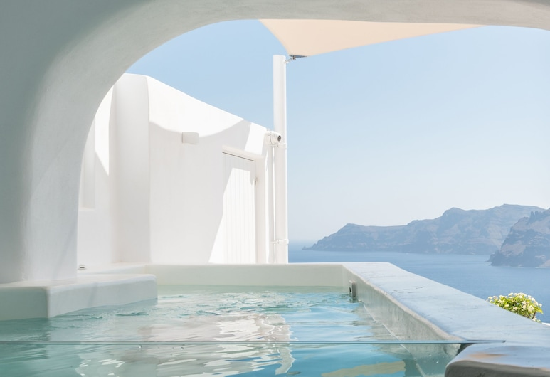 Art Maisons Aspaki Exclusive Suites, Santorini, Exclusive Suite, 1 Katil Ratu (Queen), Jetted Tub, Sea View, Bilik Tamu