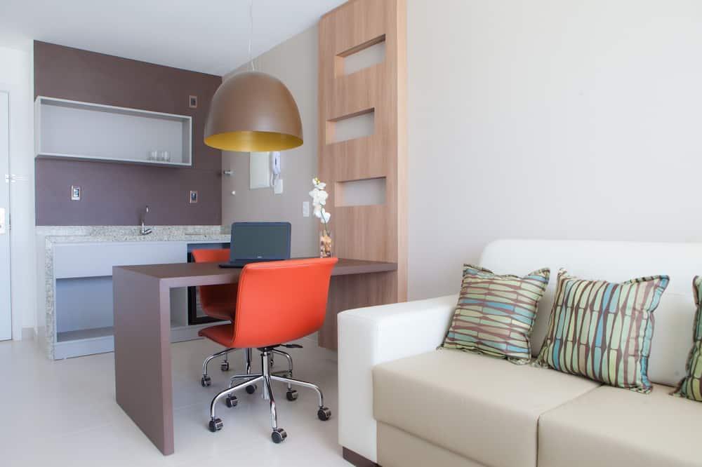 غرفة بريميم مزدوجة - منطقة المعيشة