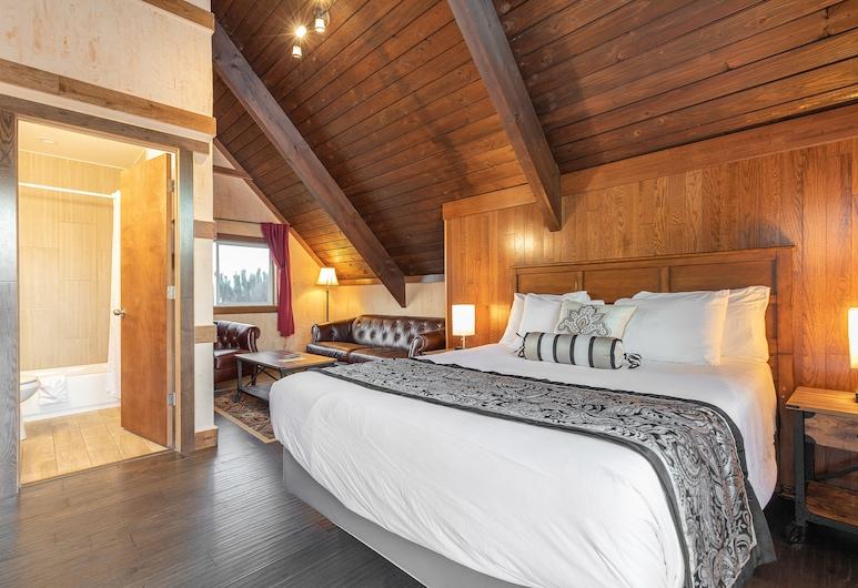 Wanderlust Inn, Ocean Shores, Deluxe King Studio Suite with Full Kitchen, Gjesterom