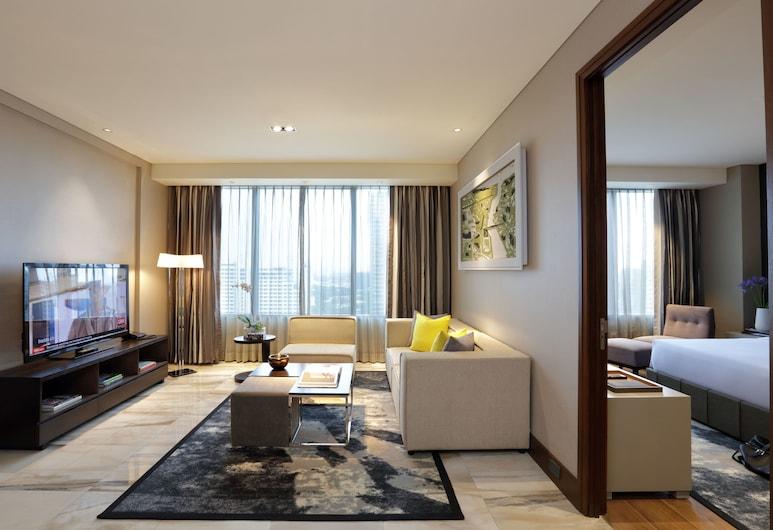 Makati Diamond Residences, Makati, Suite, 1 Bedroom (80 SQM), Living Room