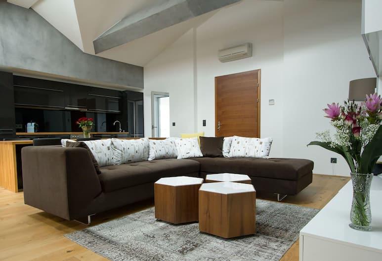 Vienna Suites, Vienna, Penthouse, 2 Bedrooms, Patio, Living Area