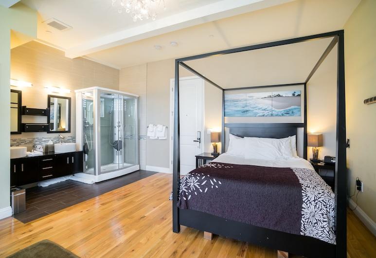 Rio Vista Suites, סנטה קרוז, סוויטת דה-לוקס, מיטת קווין, חדר אורחים