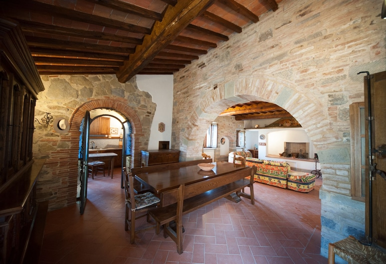 Logis Casale Rosennano, Castelnuovo Berardenga, Apartamento Deluxe, 2 habitaciones, 2 baños (padronale), Sala de estar