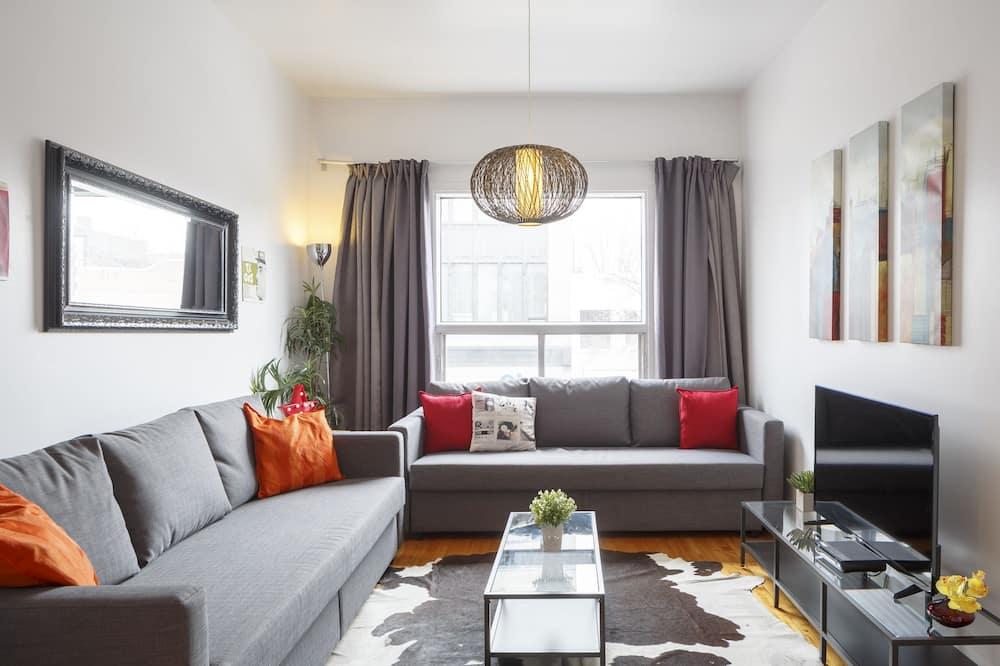 Komforta dzīvokļnumurs, divas guļamistabas, terase - Dzīvojamā zona