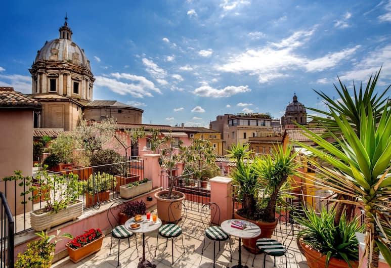 Hotel Sole Roma, Rim, Četverokrevetna soba, Pogled iz zraka
