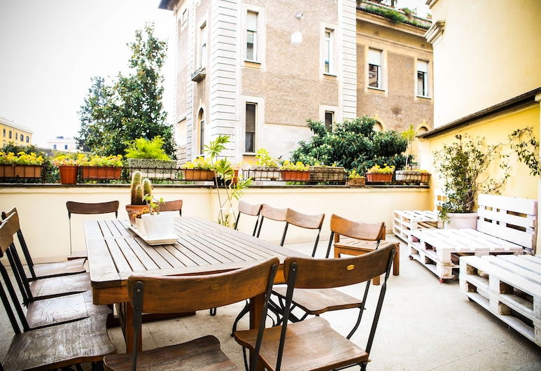 Rome Experience Hostel, Rom, Terrasse/Patio
