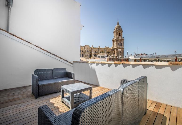 Picasso Suites Málaga Apartamento, Málaga, Deluxe penthouse, 3 slaapkamers, Terras