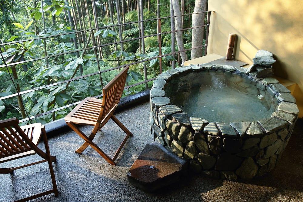 Traditional-Zimmer (Japanese Style,Open-Air Bath,Aisabi) - Balkon