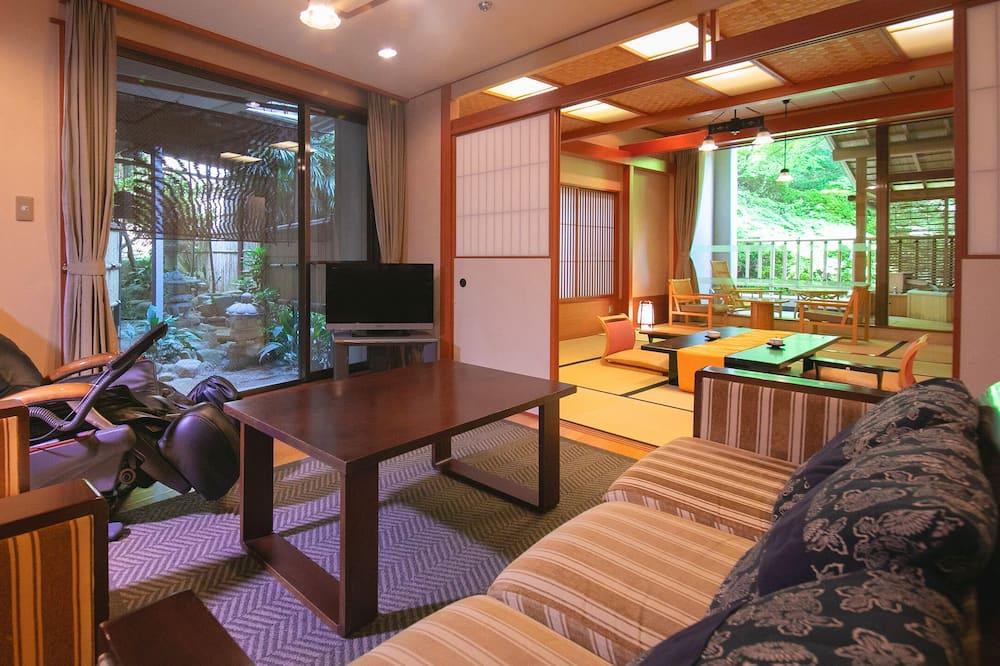 Luxury Oda, 2 Yatak Odası, Sigara İçilebilir - Oturma Alanı
