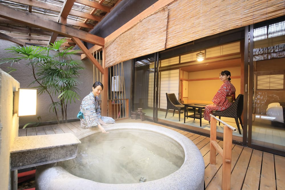 Traditional Room, Non Smoking (Japanese Western Style, Open-air bath) - Bilik mandi