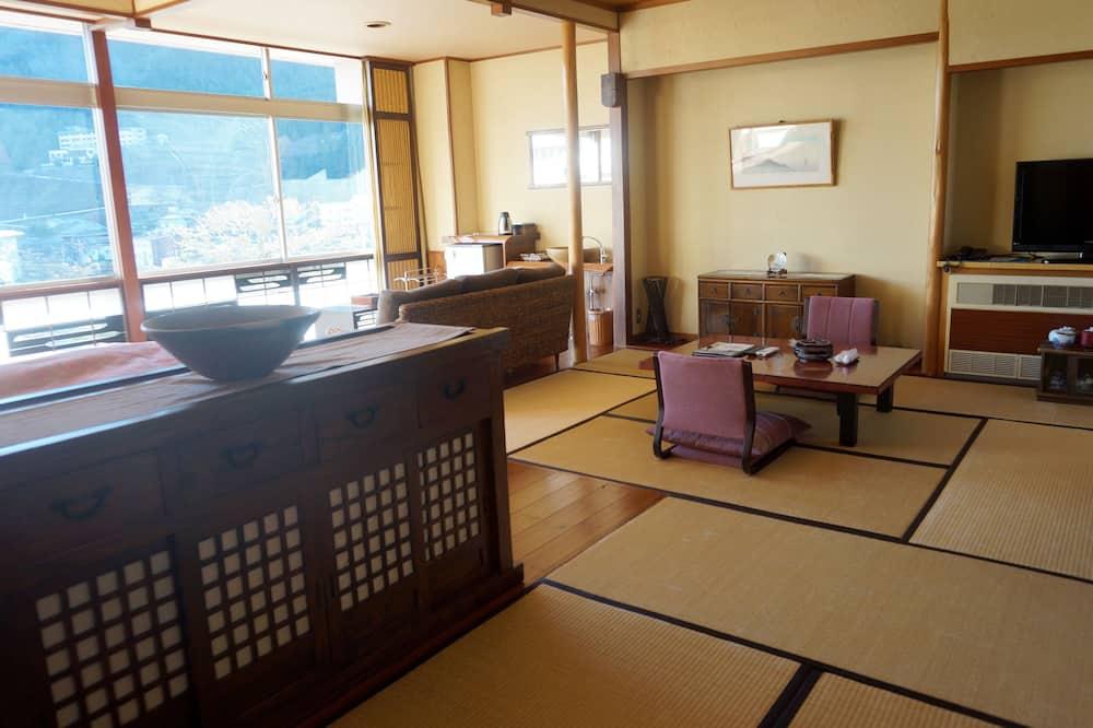 Kamer, uitzicht op bergen (Japanese Western, No Dinner after 7PM) - Woonruimte