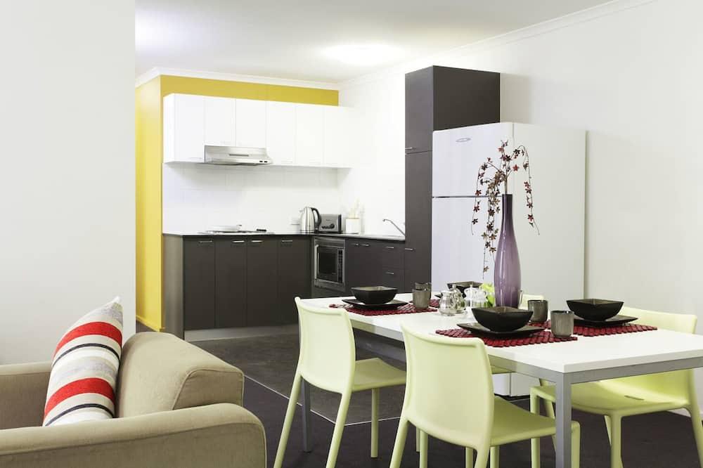 Single Room with Shared Bathroom - Living Area