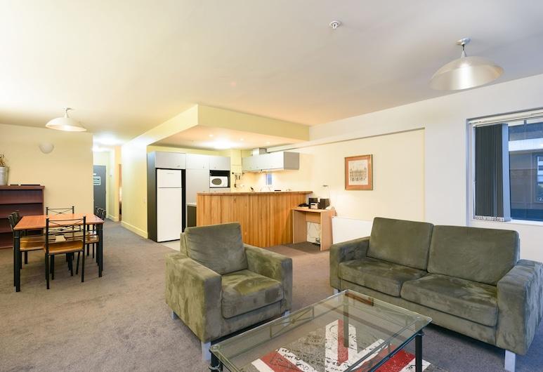 Stay at St Pauls, Wellington, Appartement Familial, 2 chambres, non-fumeurs, cuisine (Split Level), Coin séjour