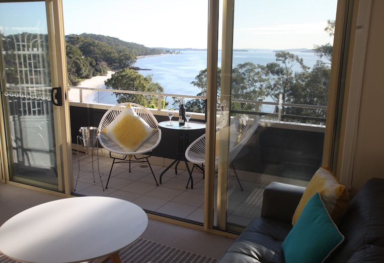 Amore At The Beach, Nelson Bay, View - Top Floor 1 Bed Apartment with Balcony and Beach Views - Single Storey Stair Access, Balcony