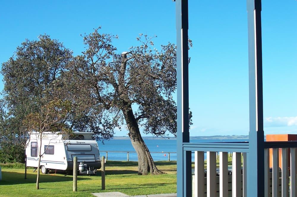 Ferienhütte, 2Schlafzimmer, Nichtraucher, Küche (Pelican Cabin) - Balkon