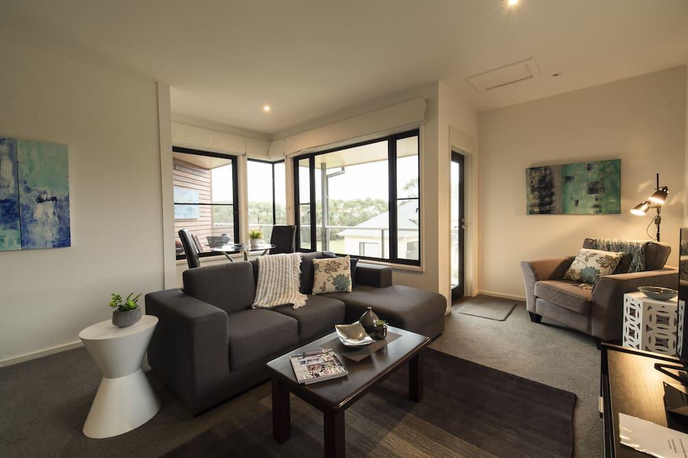 Апартаменти «Делюкс», 1 спальня, для некурців, кухня (Queen Room Upstairs) - Житлова площа