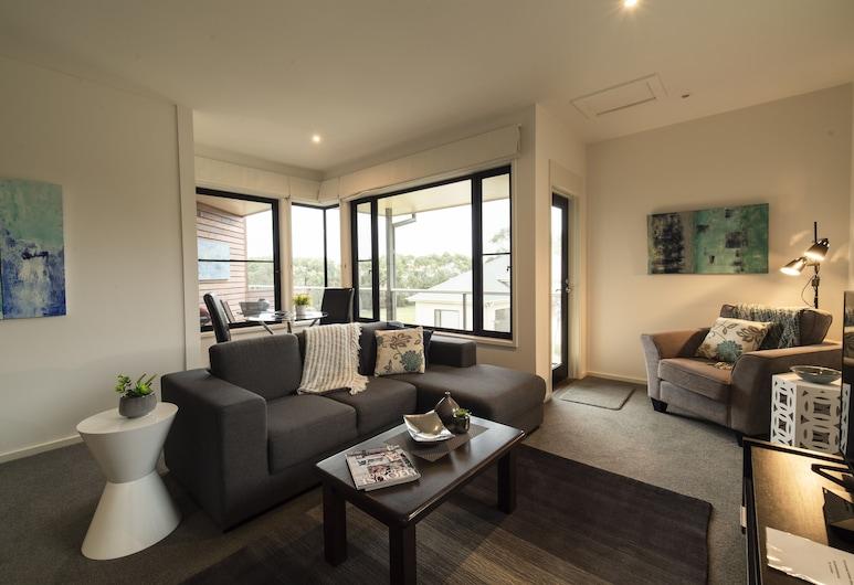 菲利普島山頂公寓, 科威斯, 豪華公寓, 1 間臥室, 非吸煙房, 廚房 (Queen Room Upstairs), 客廳