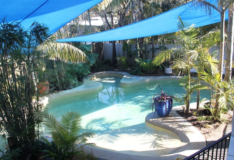 Salamander Beach Accommodation Adults Only, Salamander Bay, Superior studio suite, 1 queen size krevet, čajna kuhinja, pogled na bazen, Privatni bazen