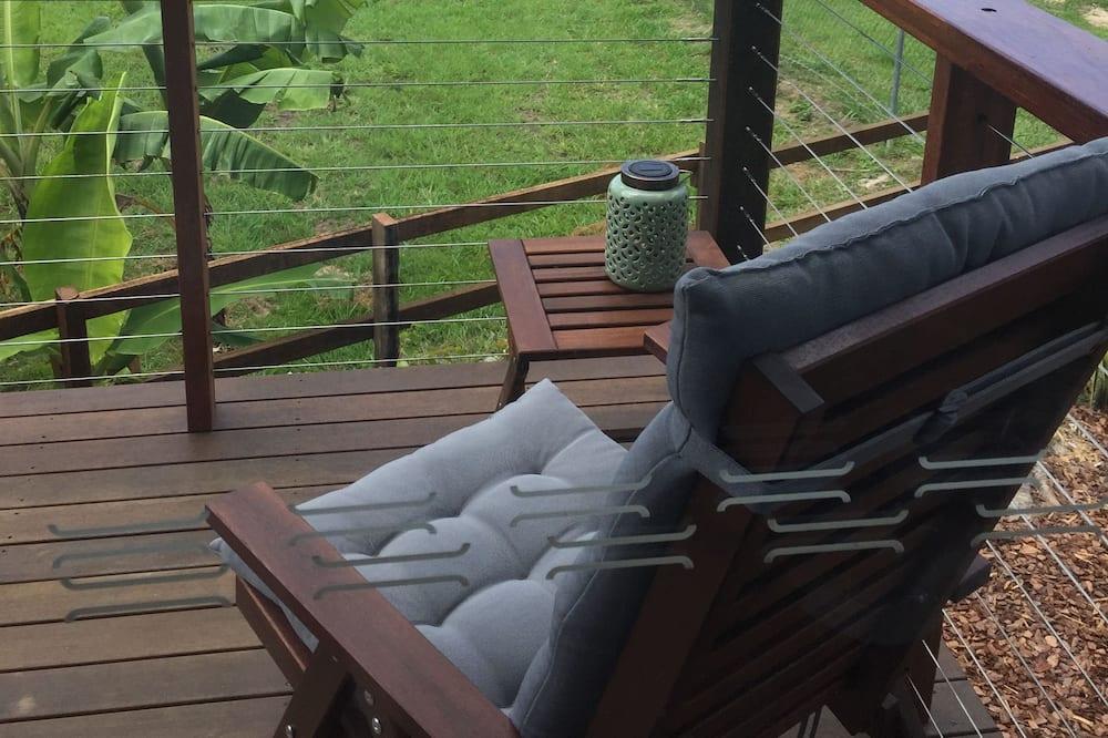 Домик «люкс», 1 двуспальная кровать «Квин-сайз», вид на горы - Балкон