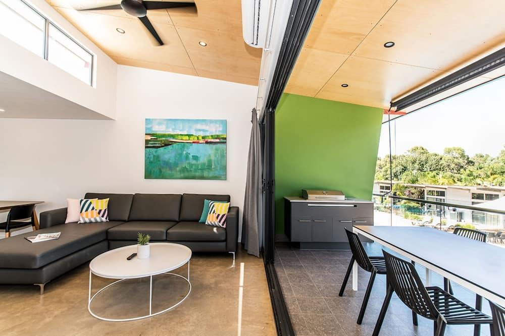 Apartment, 2Schlafzimmer, Poolseite (Upper Poolside Apartment) - Balkon