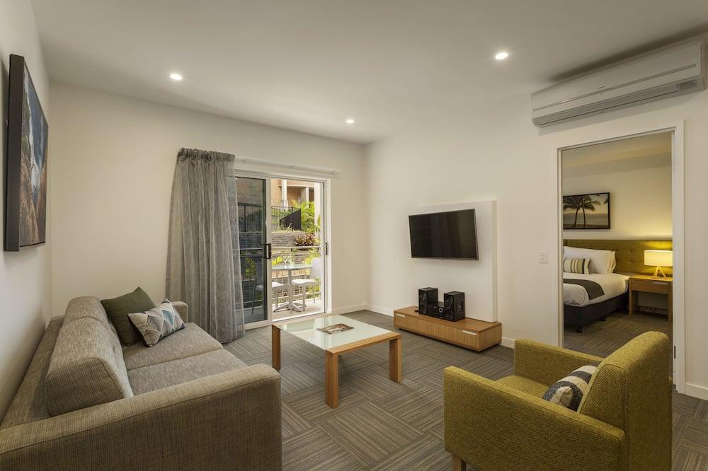 شقة بريميم - غرفة نوم واحدة - منطقة المعيشة