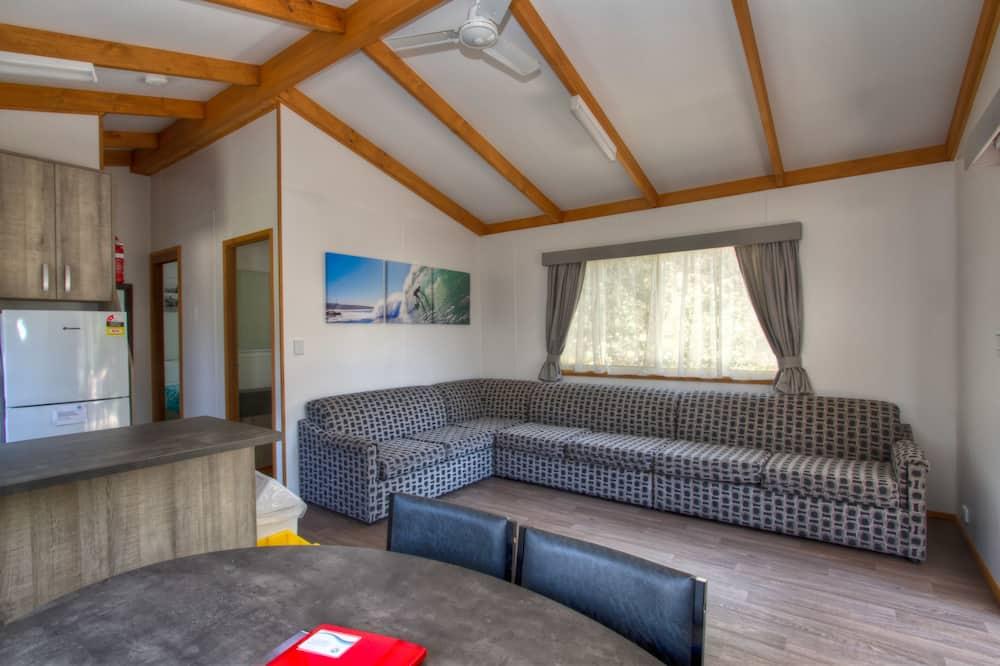 Deluxe Cabin, 2 Bedrooms, Kitchen - Living Area